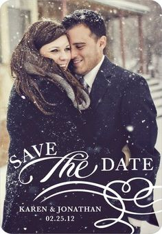 not as a save the date just a winter pic