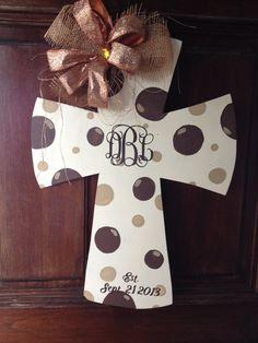 Cross Hand painted Wooden Door Hanger Sign or by DoorDecorbyBree, $35.00
