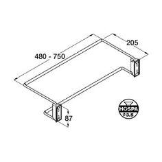 Adjustable Shoe Rack 480 To 750mm Chrome + Wall Rail Holder