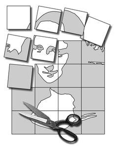 Pop Art Group Project Tutorial - could be applied to any gridded collaborative art Class Art Projects, Collaborative Art Projects, Group Projects, Middle School Art, Art School, High School, Classe D'art, Mona Lisa, 6th Grade Art