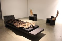 Rick Owens Furniture Exhibition A ROCK AND A FIRE IN A MIST
