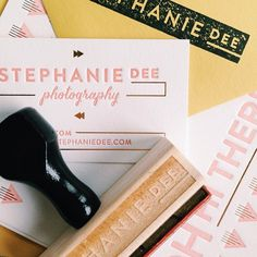 A little preview of the letterpress suite for Stephanie Dee Photography.