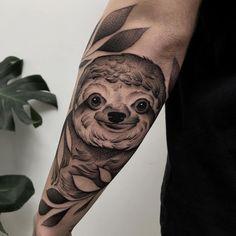 Sloth Tattoo, I Tattoo, Tattoo Ideas Tumblr, Dream Tattoos, Dot Work, Animal Tattoos, Blackwork, Tatting, Piercings