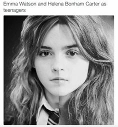 The Internet made a shocking discovery about the Harry Potter universe this week: Emma Watson and young Helena Bonham Carter look eerily alike. The startling Harry Potter World, Harry Potter Love, Harry Potter Universal, Harry Potter Fandom, Harry Potter Memes, Hery Potter, Potter Facts, Dramione, Drarry