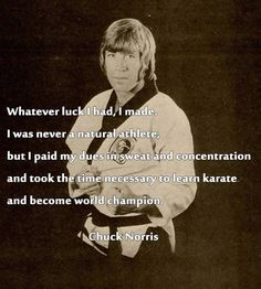 Chuck Norris on natural talent