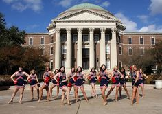 pom squad at Southern Methodist University in Dallas, Texas