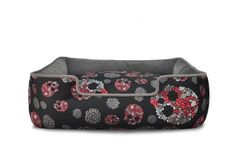Skull & Roses Dog Bed from P. What are the chances that the dog will even get to use it before a cat takes over? Hipster Dog, Designer Dog Beds, Spring Line, Skulls And Roses, Dog Years, Recycle Plastic Bottles, Cotton Rope, Four Legged, Dog Design