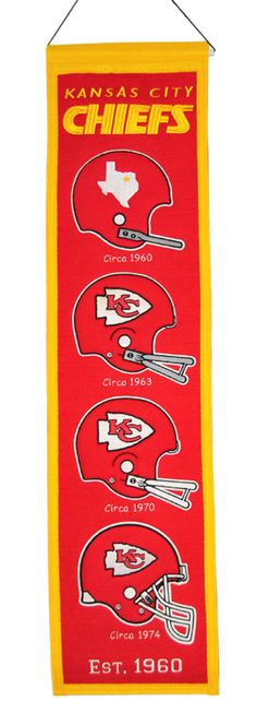 Purchase the Kansas City Chiefs NFL 8 x 32 Heritage Banner at Man Cave Kingdom. Get $5 shipping & hassle-free exchanges, no restock fees, discounted prices and satisfaction guaranteed.