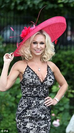 Kristina Rhianoff was forced to change at last year's races for turning up in a dress made of betting slips and then continued to offend with spaghetti straps