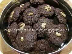 Galletas de chocolate y nueces