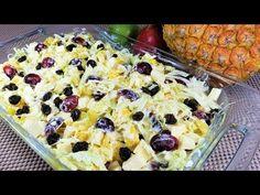 ensalada agridulce - ensalada agridulce con piña - como hacer ensalada agridulce - YouTube Bechamel, Fruit Salad, Macaroni And Cheese, Oatmeal, Recipies, Food And Drink, Vegetables, Cooking, Breakfast