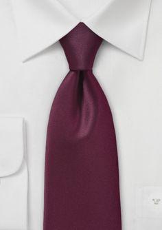 Elegant Deep Burgundy Necktie @ Bows-n-ties.com