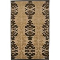 Charlton Home Carver Natural/Beige Indoor/Outdoor Area Rug Rug Size: Square Throw Rugs, Damask Print, Outdoor Rugs, Area Rugs, Area Throw Rugs, Rugs, Printed Rugs, Indoor Outdoor Area Rugs, Beige Area Rugs