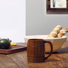 Captain Handmade Jujube Wood Barrel Mug