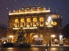 Christmas winter Budapest Hungary