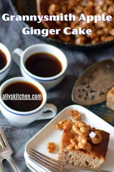 This grannysmith apple ginger cake has many healthy ingredients that boost it's nutrition. #cakerecipe #easyapplecake Homemade Desserts, Easy Desserts, Delicious Desserts, Dessert Recipes, Sweet Recipes, Easy Recipes, My Favorite Food, Favorite Recipes, Easy Apple Cake