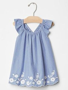 Baby Girl Clothes - Shop by Size Kids Frocks, Frocks For Girls, Little Girl Dresses, Girls Dresses, Summer Dresses, Baby Gap Girl, Toddler Girl, Fashion Kids, Embroidered Clothes