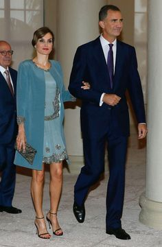 Felipe and Letizia - 1920s flapper dress and coat - Visit to Miami