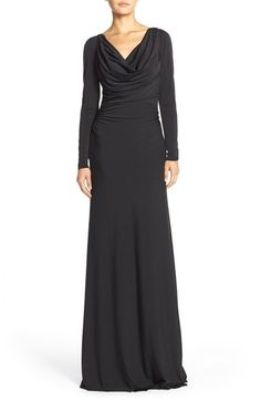 Vera Wang Jersey A-Line Gown available at #Nordstrom