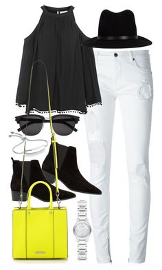 """""""Outfit with a Rebecca Minkoff bag"""" by ferned ❤ liked on Polyvore featuring County Of Milan, Topshop, rag & bone, Yves Saint Laurent, MANGO, Rebecca Minkoff, Burberry and Monica Vinader"""