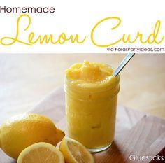 Homemade Lemon Curd Recipe via Kara's Party Ideas KarasPartyIdeas.com #lemoncurdrecipe #lemoncurd