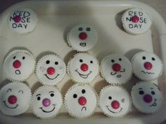 Red nose day fairy cakes