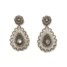 in den Farben Silber, Kristall und Anthrazit Crochet Earrings, Jewelry, Fashion, Crystals, Ear Piercings, Silver, Colors, Moda, Jewlery