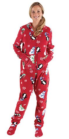 Hoodie-Footie™ for Women - Winter Whimsy