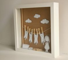 Washing cats   Original paper diorama  Shadow box by Caracarmina, $100.00