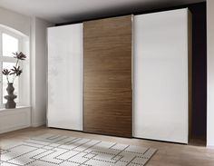 Fancy Nolte Attraction Wood and Glass Sliding Wardrobe