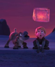 Disney Frozen Sven and Kristoff <<< look how excited Sven looks! Lol