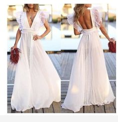 White dress- stunning Grad Dresses, Evening Dresses, Casual Dresses, Fashion Dresses, Summer Dresses, Formal Dresses, Red Slip Dress, The Dress, Dress Skirt