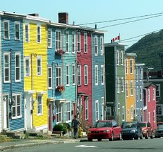 Rainbow row houses of St. John's.