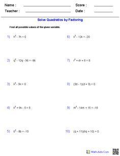 Variables Pre-Algebra Worksheet | Pre-Algebra Worksheets | Pinterest ...