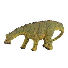 CollectA's replica of the unusual Nigeraurus is lifelike and detailed down to its bumpy hide and the wrinkles on its feet. The Nigersaurus is shown raising its head from what paleontologists say was a characteristic head-down grazing posture. The Nigersaurus has an unusually wide mouth and over 500 tiny teeth. Specimens show that the creature's skull bones were so thin as to be translucent. The adult Nigersaurus may have grown to be 30 feet long. Each prehistoric figure in the CollectA…