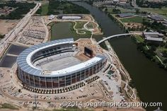 Latest aerial of #Baylor's McLane Stadium, shot by Joe Griffin Photography (June 2014) #SicEm