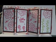 *stampin'up* tuto: carte paravent - YouTube Stampin Up, Screen Cards, Big Shot, Decorative Boxes, Voici, Genre, Videos, Youtube, Photos