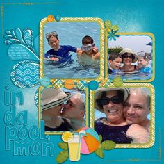 """Using Chelle's Creations' """"In the Pool"""" kit and her epoxy styles for the water.  Elements are used from Fiddle Dee Dee's splashy templates   http://scraporchard.com/market/In-the-Pool-digital-scrapbook.html Cu Epoxy Styles http://scraporchard.com/market/CU-Transparent-Epoxy-Styles.html"""