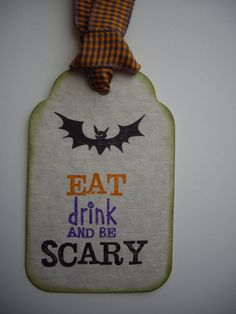 scary bat gift tag halloween favor decoration by JDooreCreations, $3.00