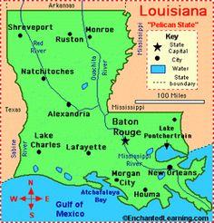 Louisiana Lake Map River Map And Water Resources Geologycom - Louisiana lakes map