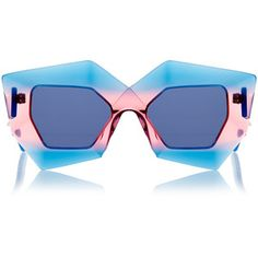 TRENDING  Oversized and ombre frame sunglasses. House Of Holland Superhero  Tropical Cocktail Sunglasses. 92c9c331752
