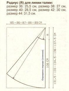 Длинная юбка четырехклинка чертеж