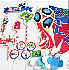 Soccer Birthday Parties, Soccer Party, 10th Birthday, Party World, World Cup, Birthday Candles, Fathers Day, Projects To Try, Scrapbook