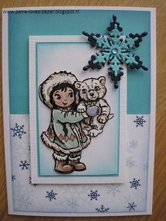 http://petra-loves-paper.blogspot.nl/2014/12/sneeuwbeer.html, labels: Yvonne Creations, CREAlies, Leane Creatief