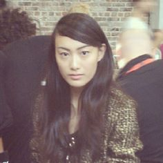 Maybelline spokesmodel Shu-Pei Qin, backstage at DKNY #NYFW