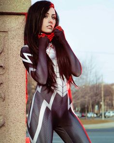 Silk cosplay from spider man cosplay by Rolyat photo by altovenue Cosplay Marvel, Superhero Cosplay, Male Cosplay, Cosplay Outfits, Best Cosplay, Cosplay Girls, Cosplay Costumes, Awesome Cosplay, Cosplay Ideas