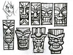deviantART: More Like Tiki Mask Design by joshleemooney Tiki Tattoo, Hawaiianisches Tattoo, Maori Tattoos, Tribal Tattoos, Tiki Maske, Stencil, Tiki Head, Shetland, Hawaiian Tiki