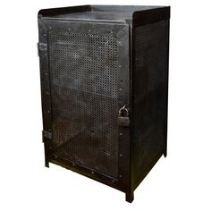 French Industrial Metal Cabinet