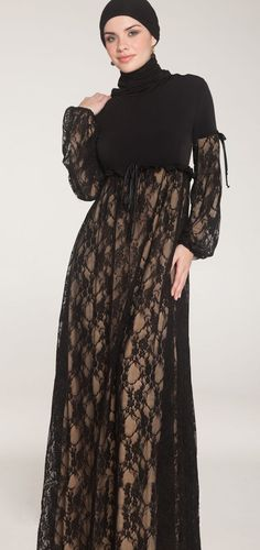 Madina Long Lace Maxi Dress