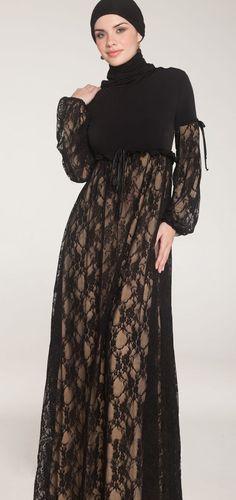 Madina Long Lace Maxi Dress